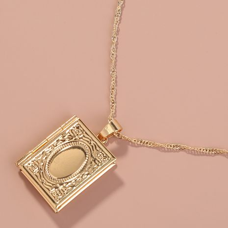 Hot selling fashion creative book pendant necklace  wholesale NHAN260486's discount tags