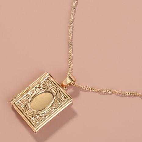 Collier pendentif livre créatif de mode vente chaude en gros NHAN260486's discount tags