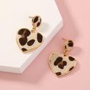 Hotselling fashion wild leopard print plush love pendant earrings wholesale NHAN260491
