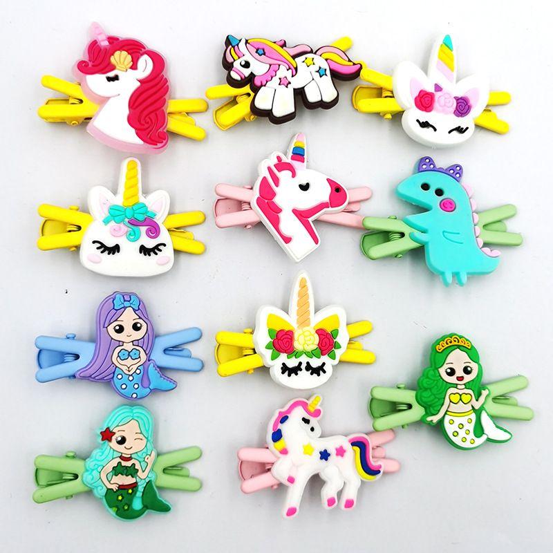 Hot selling Cartoon Unicorn Hairpin Girls Broken Hair BB Clip Side Bangs Clip NHDI260498