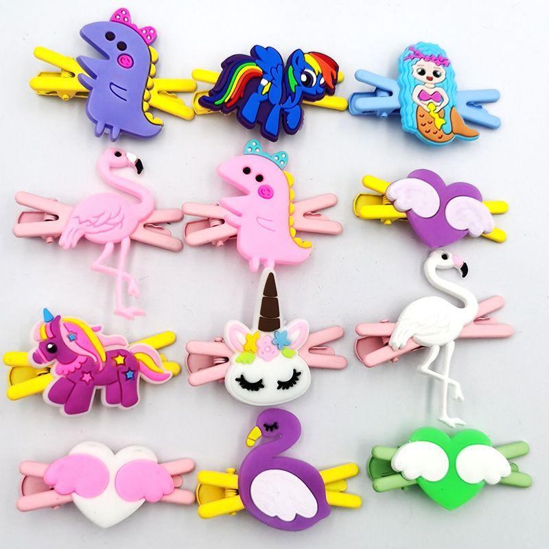Hot selling fashion cartoon unicorn hairpin cute girls broken hair clip NHDI260499