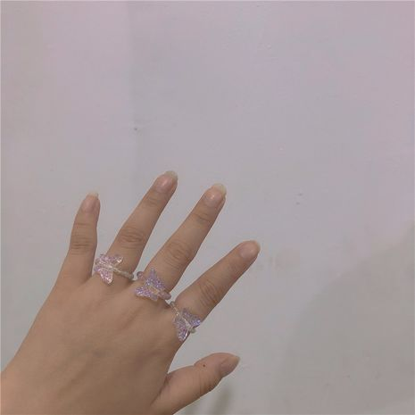 Fashion imitation crystal butterfly ladies ring wholesale NHYQ260500's discount tags