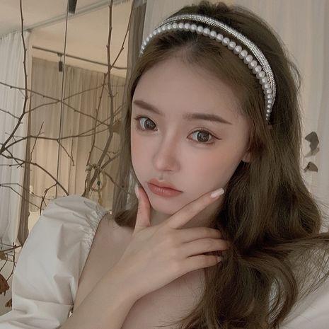 retro  pearl diamond double headband  NHYQ260514's discount tags