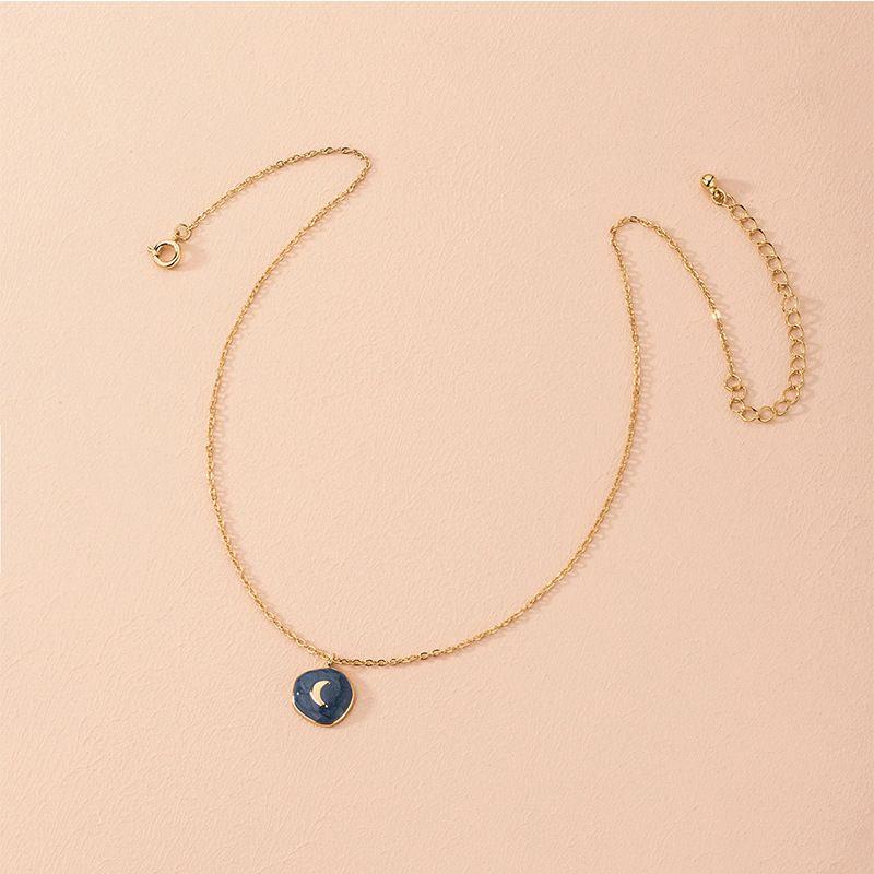 Hot selling fashion simple moon necklace retro pendant women's necklace NHAI260533