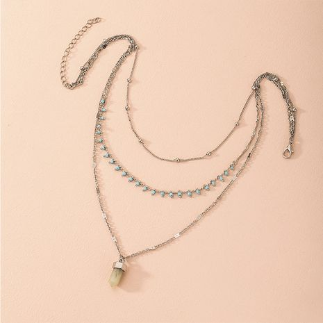 Hot selling fashion multi-layer  retro exaggerated original necklace wholesale NHAI260541's discount tags