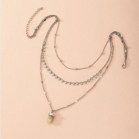 Vente chaude de mode multicouche rétro collier original exagéré en gros NHAI260541's discount tags