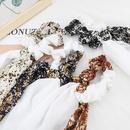 Korea  fashion half white half printed fabric hair scrunchies wholesale  NHJE260569