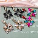 Hot selling fashion color diamond earrings geometric exaggerated tassel earrings  NHJQ260593
