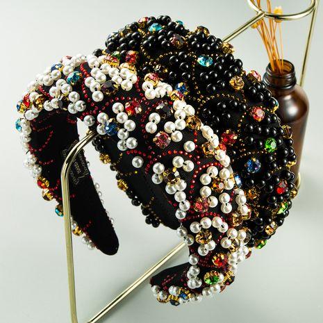 new fashion  luxury handmade pearl thickened sponge headband  NHLN260605's discount tags