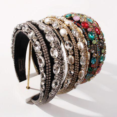 Bandeau en éponge épaisse de luxe clouté de perles NHMD260613's discount tags