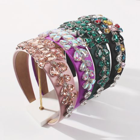 wide-brimmed alloy diamond-studded headband  NHMD260615's discount tags