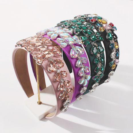 bandeau en alliage à larges bords clouté de diamants NHMD260615's discount tags