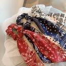 Fashion flower square silk scarf Hair Scrunchies wholesale NHOF260628