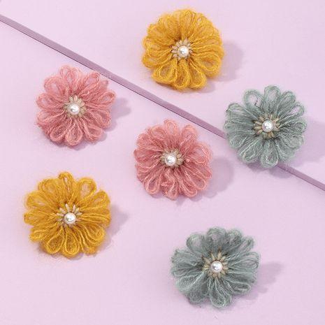 Los pendientes dulces y encantadores de la flor de la felpa de la moda vendedora caliente venden al por mayor NHNZ260638's discount tags