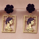 Hot selling fashion personality metal exaggerated fashion hollow portrait earrings wholesale NHNZ260639