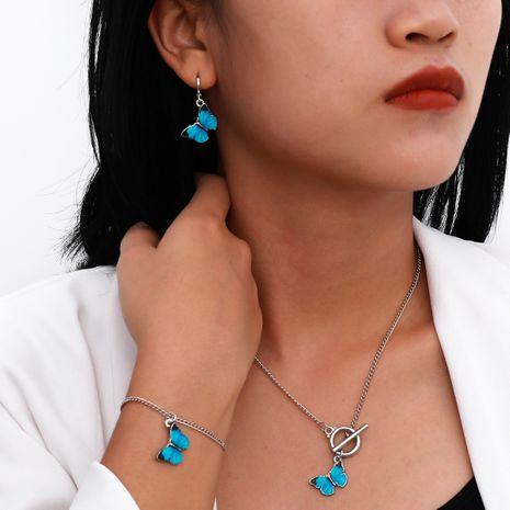 Ensemble de collier papillon en métal simple en alliage de style gothique rétro créatif NHXR260643's discount tags