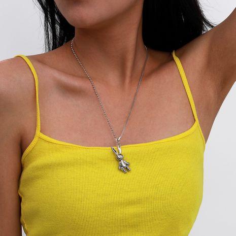 mode nouveau collier en alliage de lapin simple clavicule longue pour les femmes NHXR260645's discount tags