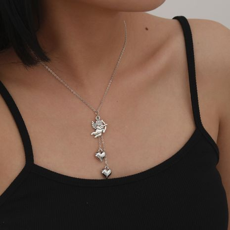 Fashion new Simple Cupid Eros Clavicle Alloy Love New Necklace set NHXR260646's discount tags