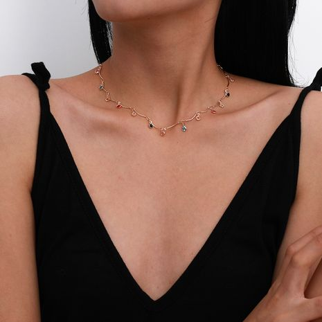 fashion new trendy retro simple alloy acrylic clavicle necklace for women NHXR260647's discount tags
