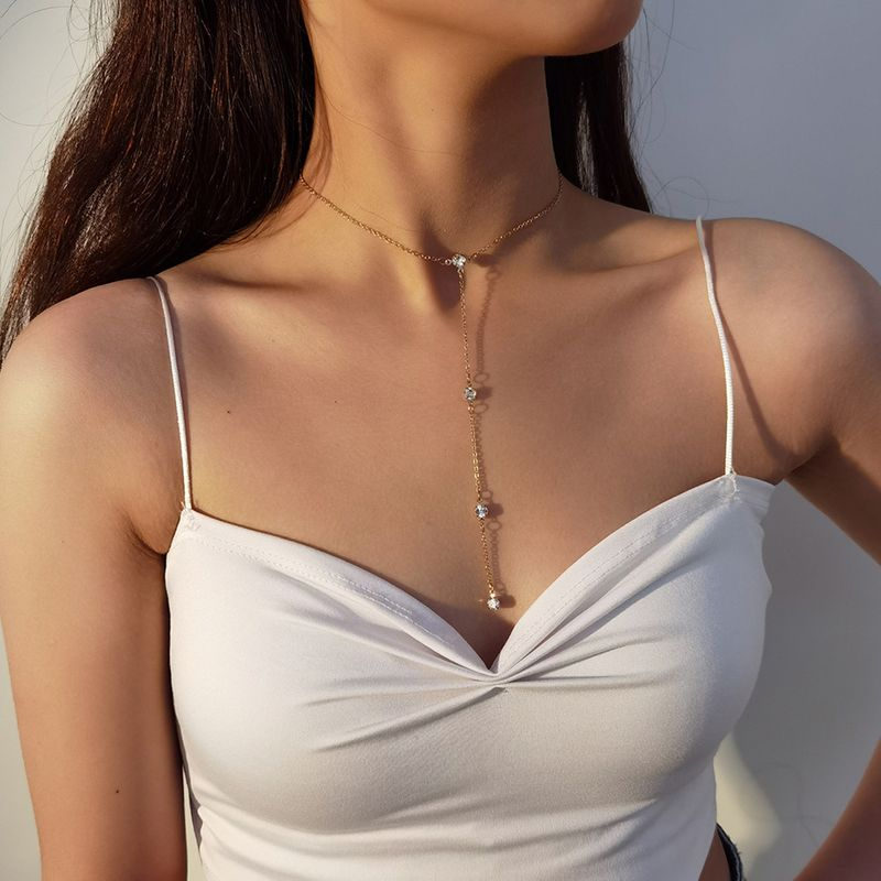 fashion new diamond clavicle punk style necklace for women wholesale NHXR260654