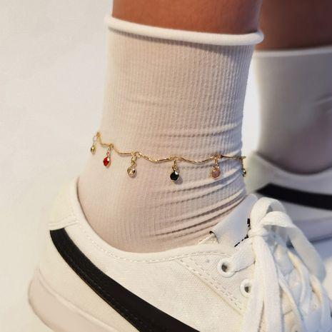 mode nouveau pendentif à la mode ornements de pied rétro simple chaîne à la main dames en alliage de cheville NHXR260655's discount tags