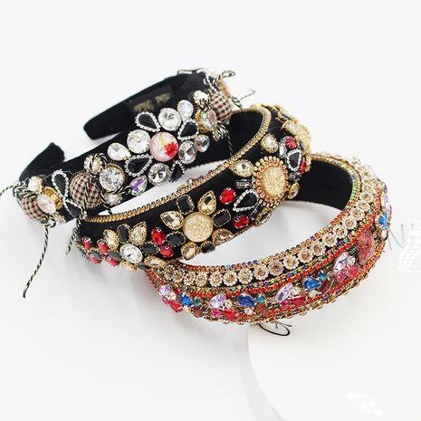 New  Baroque  fashion rhinestone gemstone color luxury  beautiful headband  NHWJ260664's discount tags