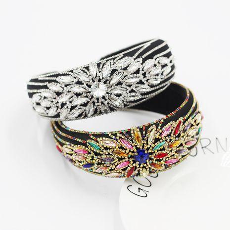 New  Baroque Fashion Luxury Wide Rhinestone Headband  NHWJ260667's discount tags