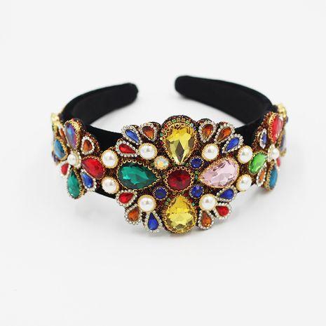 Bandeaux en strass de couleur sauvage incrustés de mode baroque NHWJ260668's discount tags