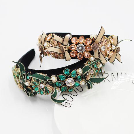New fashion  Baroque diamond-studded color bow headband  NHWJ260670's discount tags