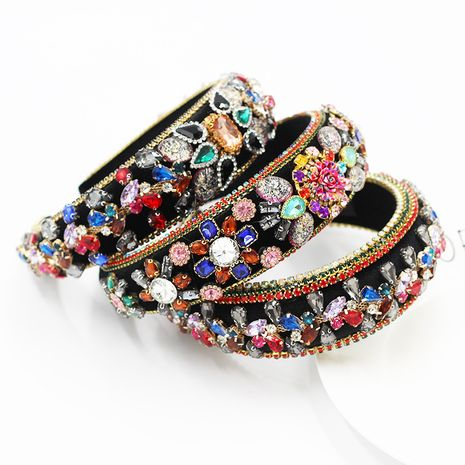 Baroque fashion color rhinestone ladies headband  NHWJ260671's discount tags