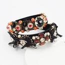 Baroque diamond pearl sponge exaggerated bow tie  headband  NHWJ260672