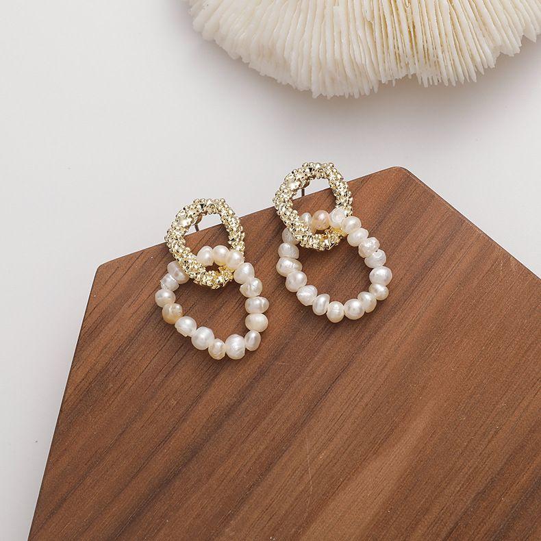 Fashion new 925 silver needle freshwater pearl delicate earrings for women NHMS260675