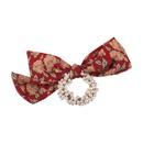 Vente chaude mode lastique bonne bande de caoutchouc floral noeud papillon fleur de perle chouchous de cheveux NHMS260678