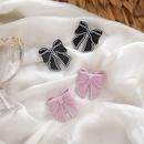 Pearl Bowknot Allmatch Cute Sweet 925 Silver Pin Retro Pink Stud Earrings NHMS260708