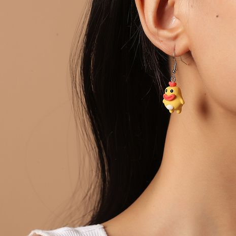 Cute cartoon  Korea Fashion New Trend Little Yellow Duck Earrings NHKQ260729's discount tags
