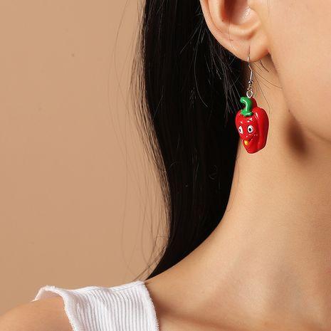 Pendientes de moda de dibujos animados lindo vegetal pimienta Corea nueva tendencia NHKQ260733's discount tags