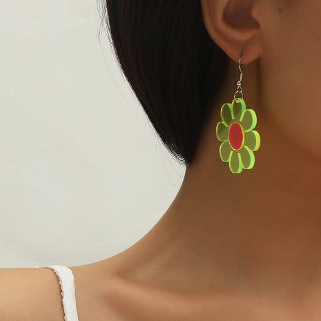 Fashion new trend creative contrast sun flower simple all-match acrylic flower earrings NHKQ260737's discount tags