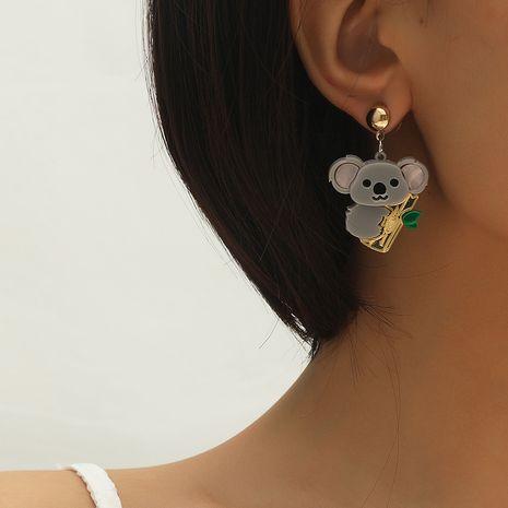 hot sale new cute super cute sloth Korean fashion koala animal earrings NHKQ260745's discount tags