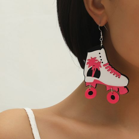 Fashion simple new pink coconut skates exaggerated acrylic earrings NHKQ260750's discount tags