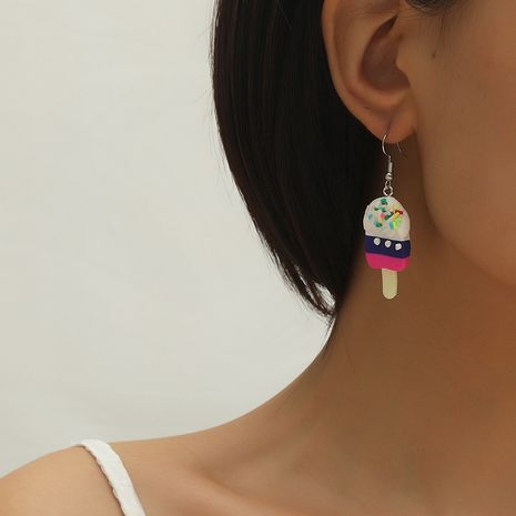Korean new sweet  exaggerated ice cream earrings NHKQ260755's discount tags