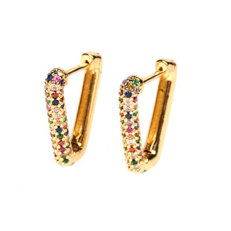 Hot selling fashion V-shaped earrings wholesale NHPY260795's discount tags