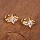 Hot selling fashion zircon cute bee earrings wholesale NHPY260796