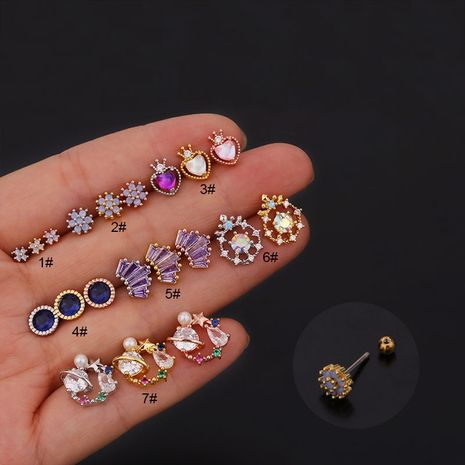 new  creative fashion color zircon earrings  NHEN260927's discount tags