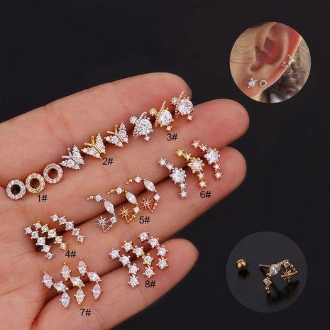 Korean creative fashion butterfly zircon earrings  NHEN260933's discount tags