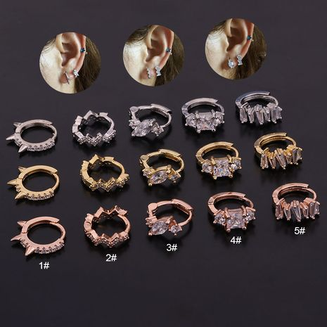new zircon  cartilage earrings NHEN260944's discount tags