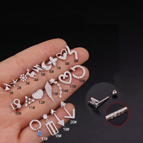 new  creative  zircon earrings wholesale NHEN260947's discount tags