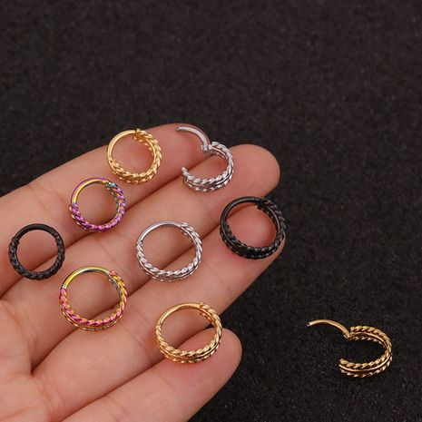 new 3 rows of twist  closed  ear bone ring  NHEN260949's discount tags