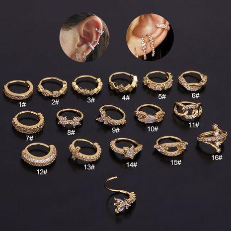 Korean  new zircon creative earrings  NHEN260951's discount tags