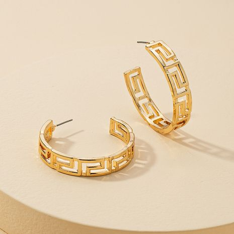 new 1 pair of metal C-shaped alloy earrings hot-selling NHGU260961's discount tags