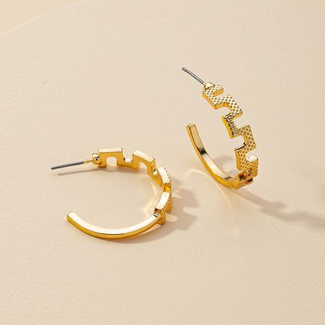 Fashion new 1 pair of metal C-shaped hot-selling alloy earrings  NHGU260962's discount tags